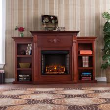 view electric fireplace with bookcases interior decorating ideas