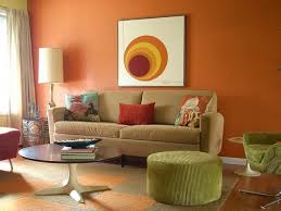 drawing room wall orange colours combinations living room color