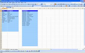Check Register Template Excel Checkbook Register Excel Templates
