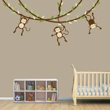 Wall Decals For Nursery Boy Hanging Monkey Wall Decal Monkey Vines Monkey Decal Nursery