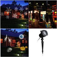 Light Flurries Snowflake Projector by Modern Landscape Lighting Backyard Christmas Halloween Lighting