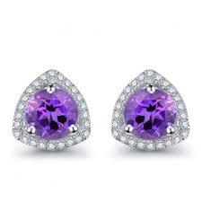 amethyst stud earrings amethyst earrings wholesale sterling silver amethyst studs