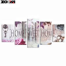 home sweet home decoration zooya 5d diy diamond embroidery home sweet home diamond painting