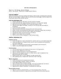 cover letter deli clerk job description job description deli clerk