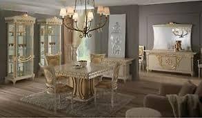 italienische esszimmer esszimmer samos gold italienische wohnzimmer möbel hochglanz ebay