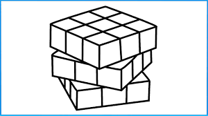 how to draw rubik u0027s cube coloring for kids drawing pages to