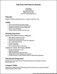 service clerk sample resume clerical experience resumes templates franklinfire co