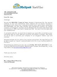 format of request letter to company request letter of contracted rates travel agency business