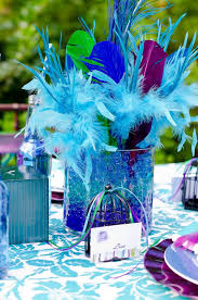 Peacock Feather Centerpieces by 41 Best Peacock Themed 60th Birthday Party Images On Pinterest