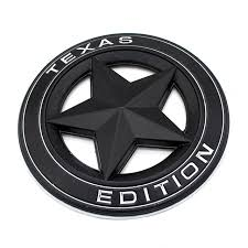 jeep steering wheel emblem vintage texas edition hollow out star round metal badge car styling