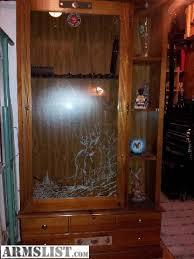 gun cabinet for sale armslist for sale wood with glass door 8 gun gun cabinet