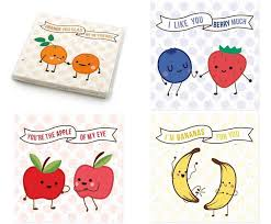 valentines day cards for friends fruit friends s day cards inhabitots