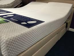 bedroom queen size adjustable bed with gray linen fabric
