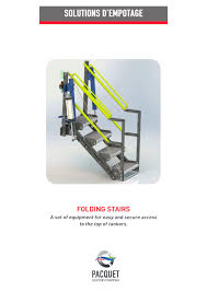 product data sheet folding stairs technical overview pacquet