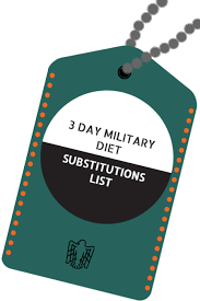 military diet substitutions 3 day military diet guidelines
