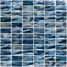 Sky Blue Glass Subway Tile Backsplash In Modern White Kitchen With - Recycled backsplash