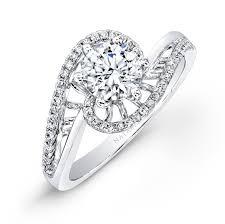 swirl engagement rings 18k white gold swirl pave diamond engagement ring