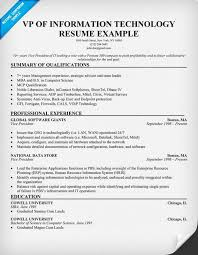Cio Resume Examples by Information Technology Resume Examples Berathen Com