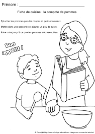 coloriage recette de cuisine coloriage educatif fiches de cuisine à colorier compote de