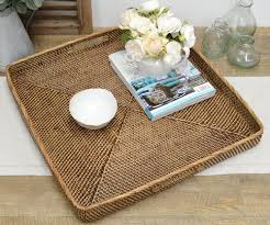 coffee tables dazzling s coffee table tray square brown rattan