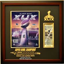 new england patriots super bowl 49 champions ticket u0026 program