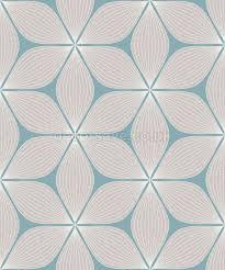 Papier Peint Art Nouveau New Coloroll Bleu Canard Vibrations Géométrique Paillettes