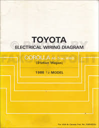 1988 toyota corolla fx fx 16 repair shop manual original