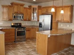 Oak Cabinet Kitchen Ideas Kitchen Flooring Ideas With Honey Oak Cabinets Frantasia Home