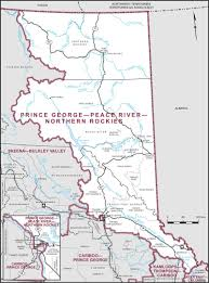Map Of British Columbia Canada by Prince George U2013peace River U2013northern Rockies Maps Corner