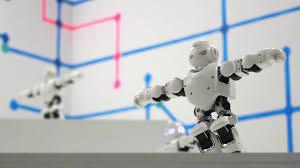 Robots Man Dancing Dancing Robot Close Up Smart Technology