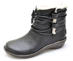 ugg australia womens caspia ankle boots with leather wrap ties ugg australia caspia black leather sheepskin ankle boots s 6