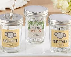 safari baby shower favors personalized born to be baby shower jars