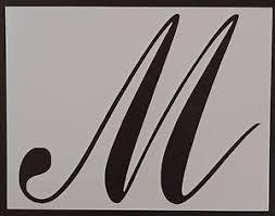script letter stencils ebay