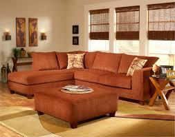 Sofa Ottoman Terracotta Fabric Modern Sectional Sofa W Optional Ottoman