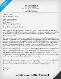 cover letter formatting barista cover letter sle writing tips resumecompanion