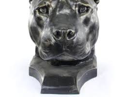 american pitbull terrier figurines bull head statue etsy
