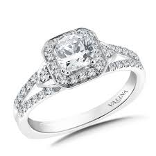 mounting rings images Geometric shape halo mounting shown with 1 ct asscher cut center jpeg