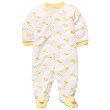 s newborn footed fleece pajamas ducks