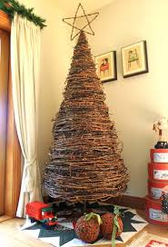 christmas tree made from grapevine make small ones by wrapping