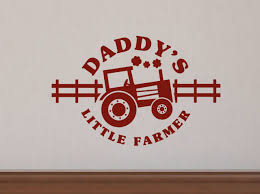 daddy s little farmer boys wall decals stickers farm wall decor daddy s little farmer boys wall decal stickers with tractor art graphics loading zoom