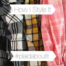 Plaids How I Style It Layering Plaids Bright On A Budget