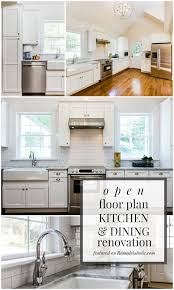 kitchen dining room floor plans remodelaholic open plan kitchen and dining room