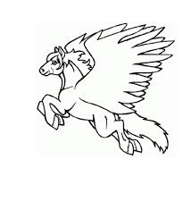 fantasy flying pegasus coloring pages womanmate com
