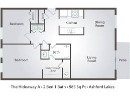 2 bedroom 1 bath floor plans 2 bedroom apartment floor plans pricing ashford lakes