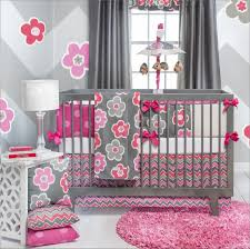 Hot Pink And Black Crib Bedding by Special Design And Colors Baby Girl Crib Bedding Sets