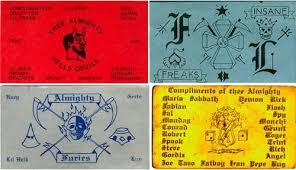 calling cards of chicago gangs neatorama