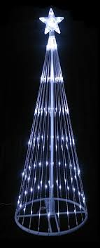 lb international led light show cone tree lighted yard