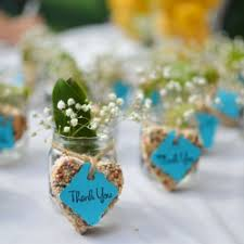 jar favors birdseed hearts and baby jar favors weddinggawker
