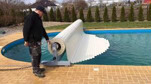 swimming pool roller shutter mobile youtube