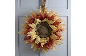 sunflower mesh wreath sunflower mesh wreath a c